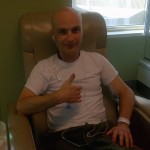 One of my final days of treatment