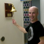 Ringing the bell at Princess Margaret after the last chemo session